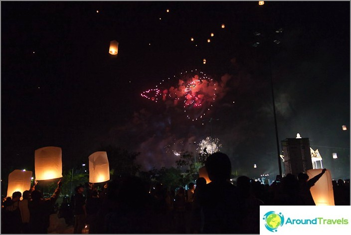 Thaimaan uusi vuosi, ilotulitusfestivaali