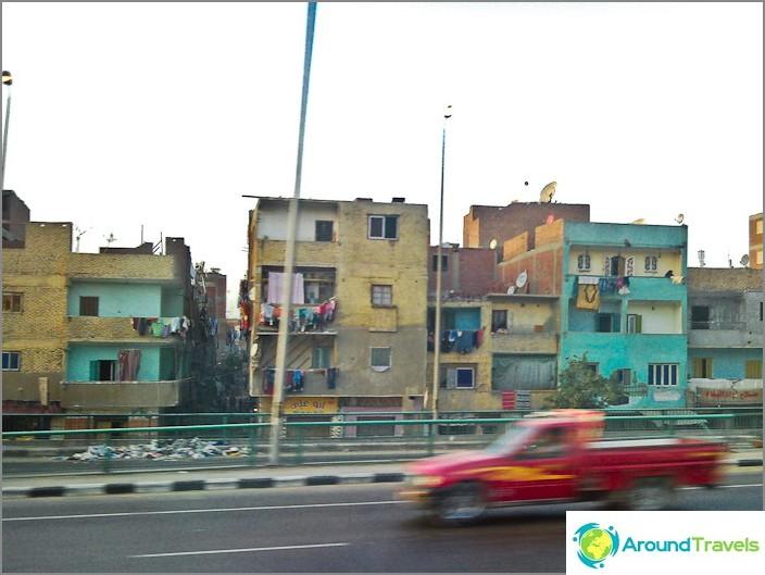 Kairo. Egypti. Asuinalue.