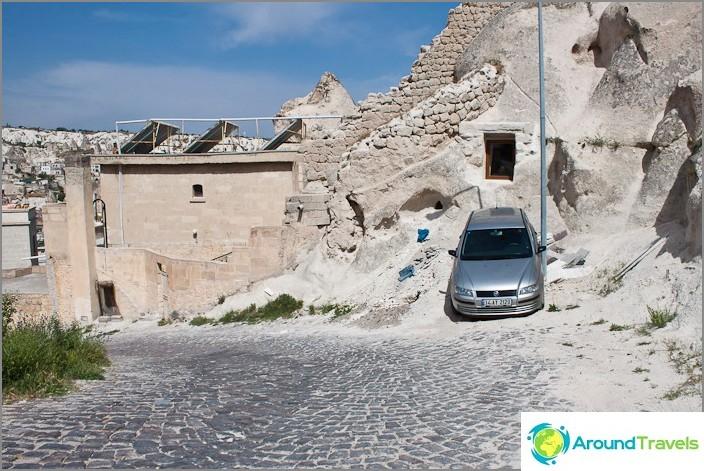 Паркиране в условията на Göreme.