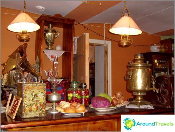 Ravintola kaupunkielämän museossa Uglichissa.