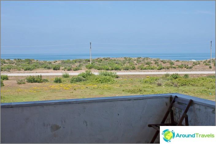 Utsikt från balkongen till Svarta havet.