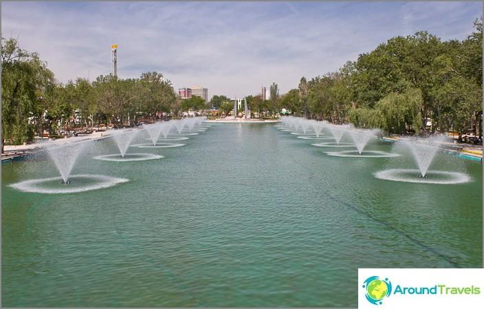 Puisto Ankaran keskustassa.