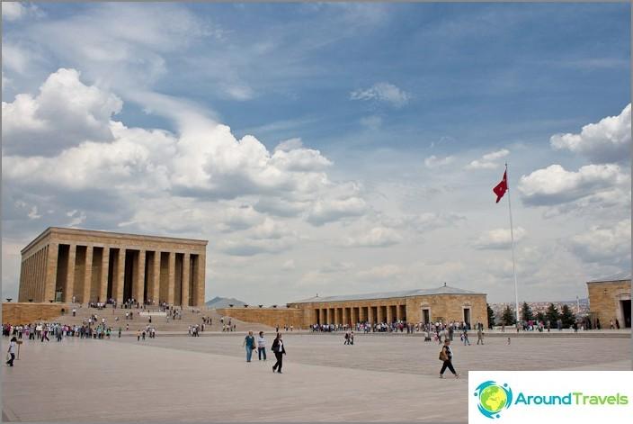 Atatürkin mausoleumi. Turkki.