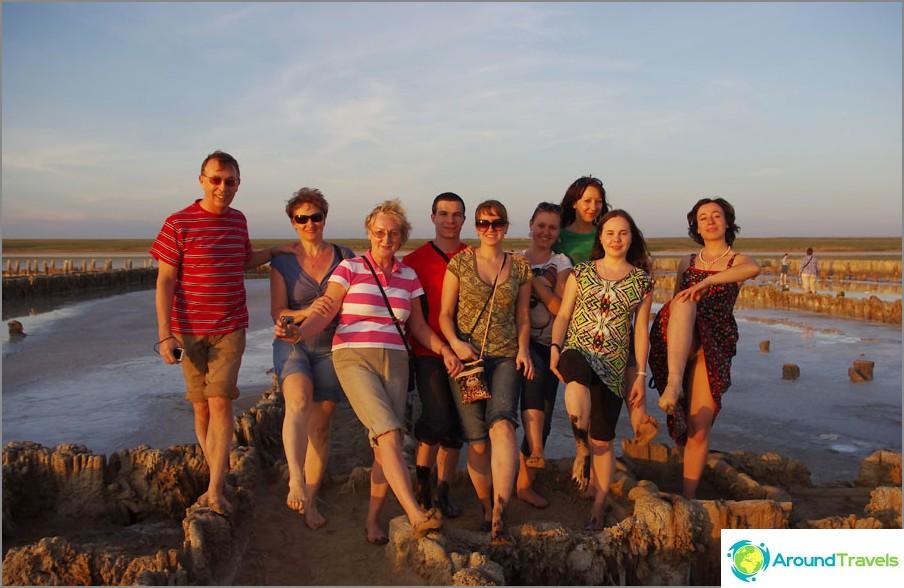 På saltsjön Elton, Volgograd-regionen