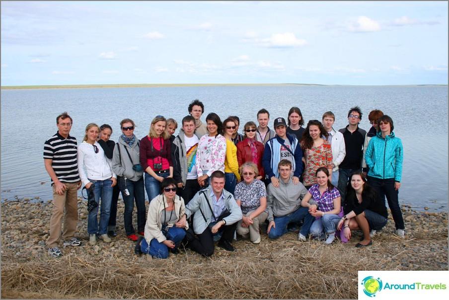 Vid reliksjön Manych-Gudilo, gränsen till Kalmykia och Rostov-regionen