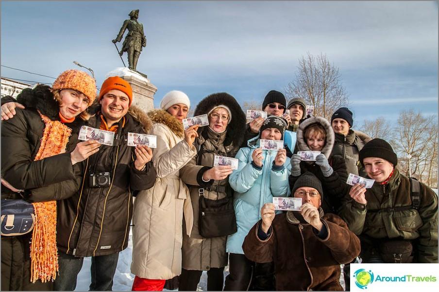 I Arkhangelsk - staden med femhundra rubelnoter