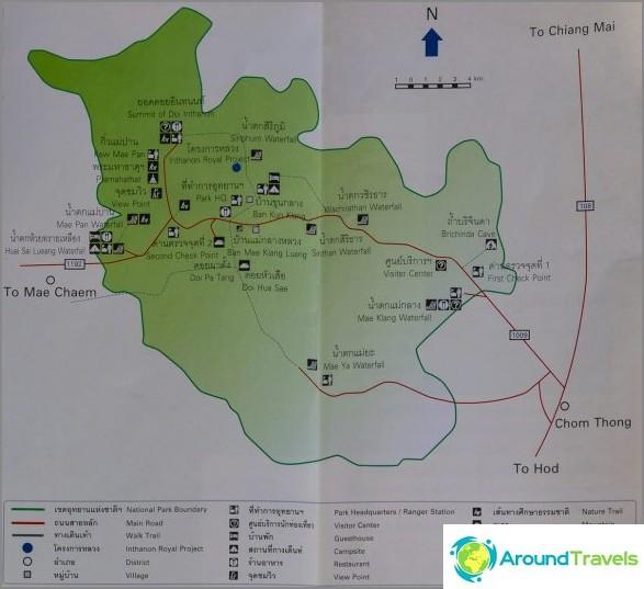 Карта на Doi Inthanon