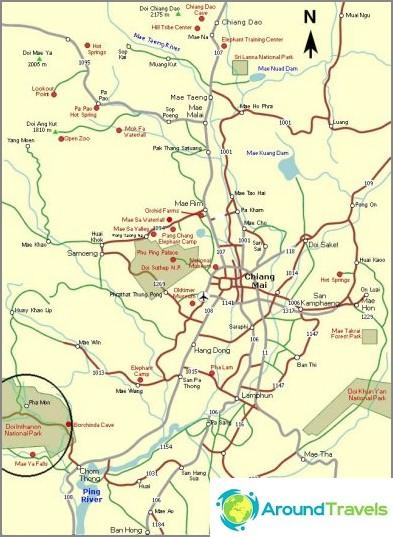 Направете Inthanon карта