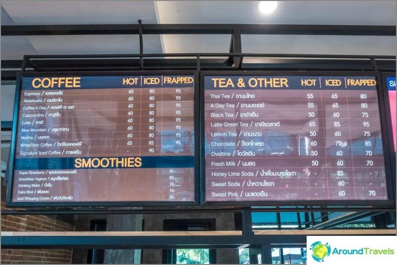 Hyvä kahvila Phi Phissa - kahvia päivässä