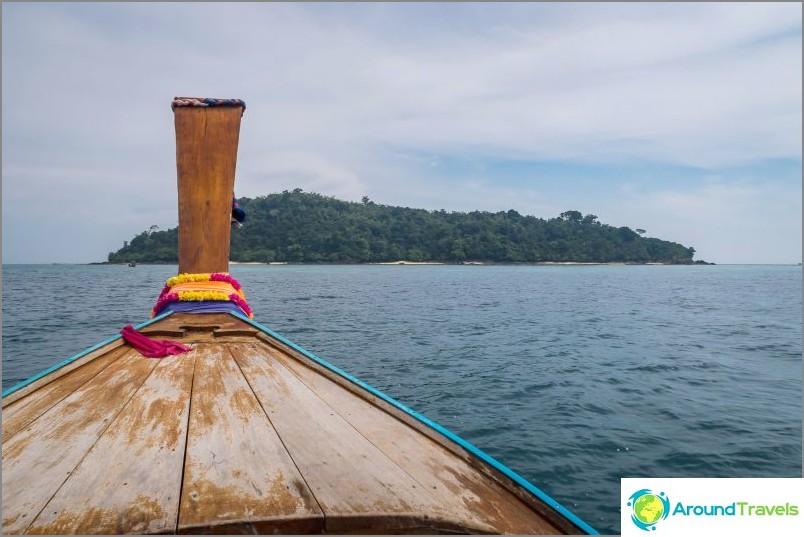 Bambu-saari näkyy eteenpäin