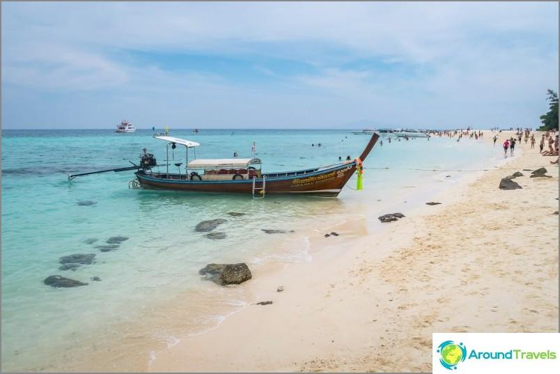 Bambu Island lähellä Phi Phi - sisältyy kaikkiin retkiin