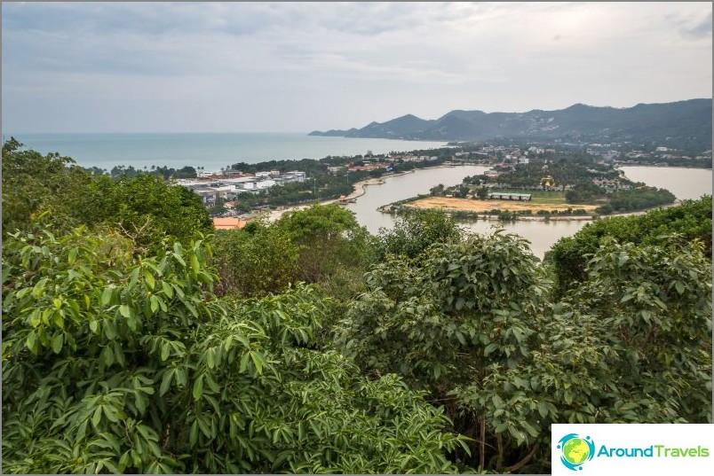 Изглед към Чавенг и езерото