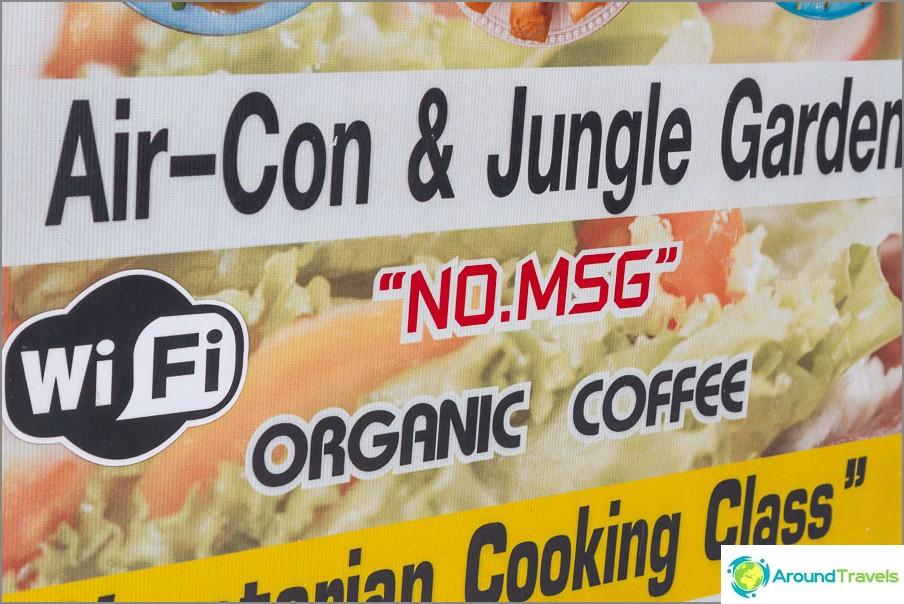 Kahvila- ja ruoanlaittokurssit Ei MSG