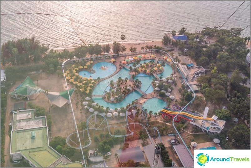 Pattaya Parkin vesipuistonäkymä alla