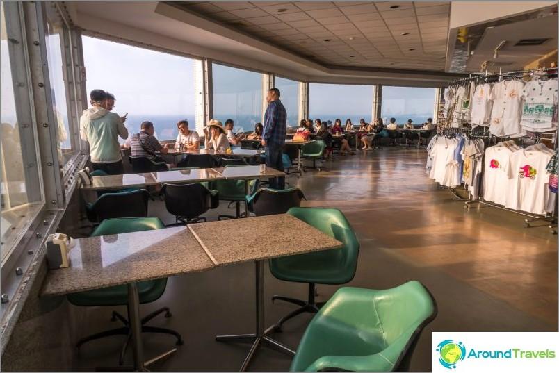Kahvila Pattaya Park -hotellin tornissa