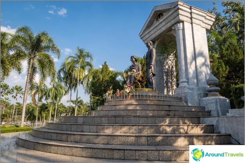 Monumentti hallitsijoille temppelikompleksissa