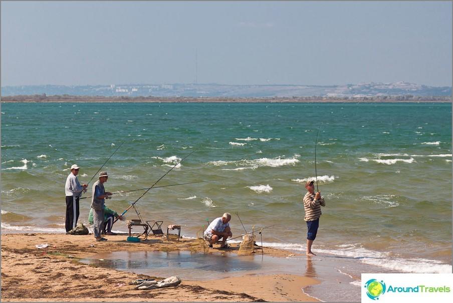 Suosituin kalastuspaikka sylkeisen kärjessä