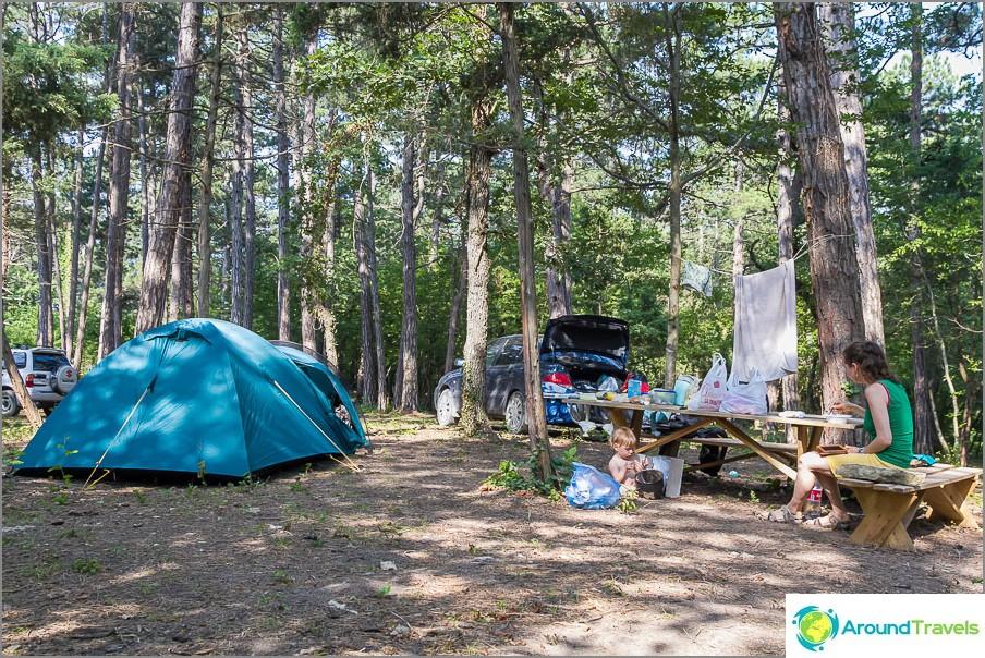 Leirimme leirintäalueella