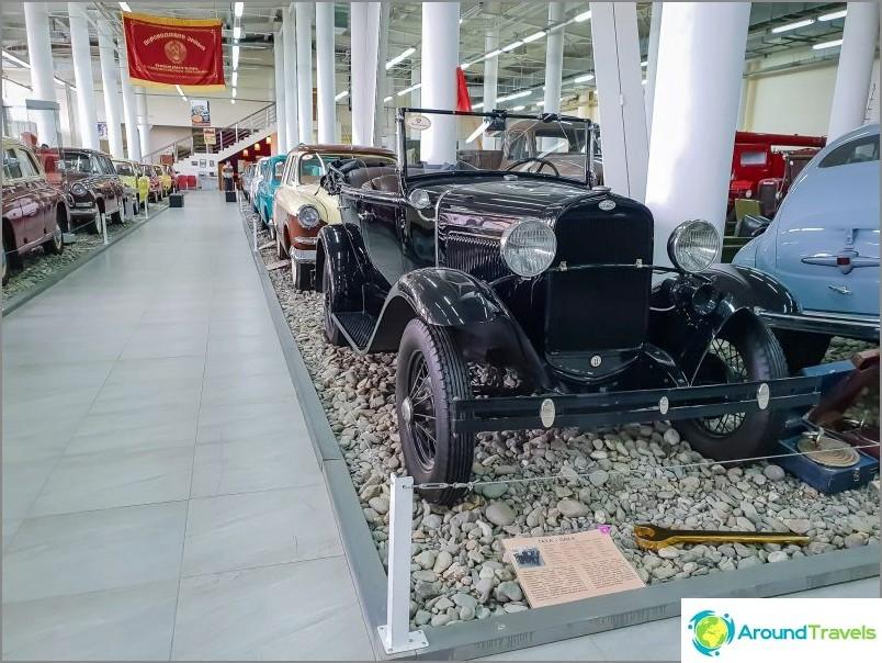 Автомобилен музей в Сочи, GAZ-A, произведен по лиценз на Ford.