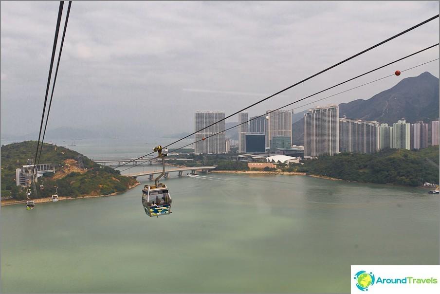 Ikkunasta näkymät Hong Kongiin