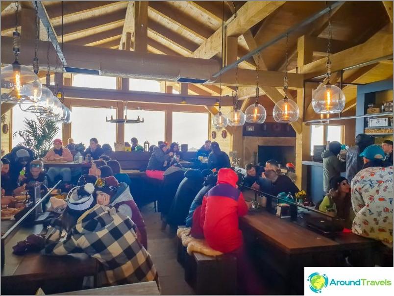 Restaurang Balagan i Rosa Khutor - från tält till restauranger