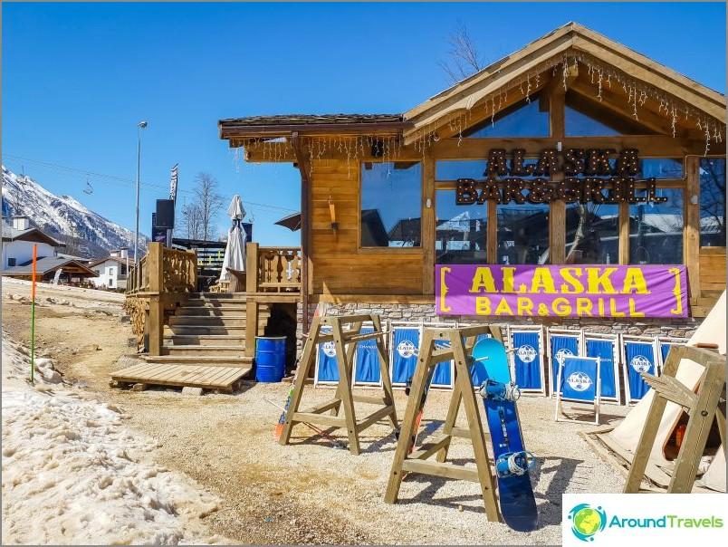 Alaska-baari olympiakylässä, Rosa Khutor