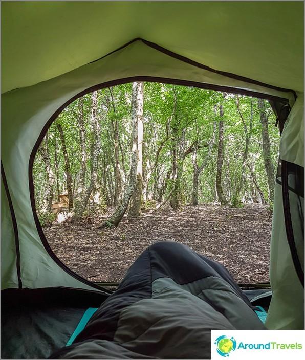 He sanovat, että pito kuluu vuosien varrella, mutta rakastan silti telttoja