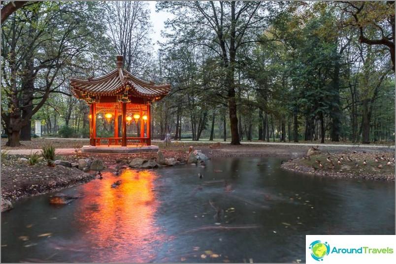 Ъгъл на Китай в парка Лазиенки