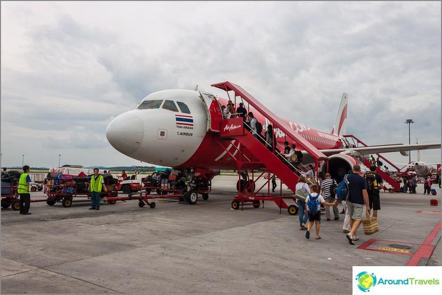 AirAsia - Aasian suurin halpalentoyhtiö Thaimaassa