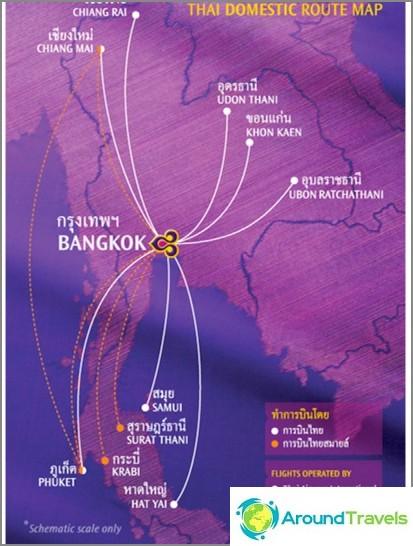 Mihin Thai Airways lentää