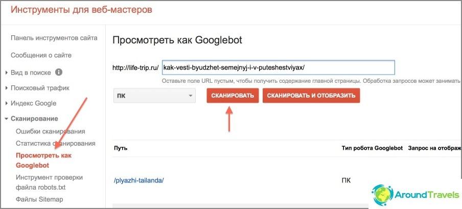 Lisäys manuaalisesti Google-hakemistoon