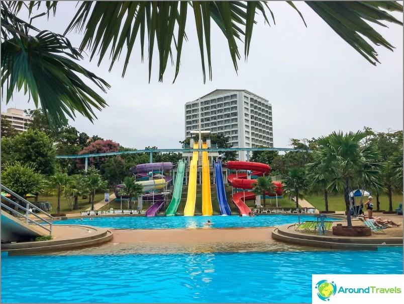 Liukumäet Pattayan puistossa