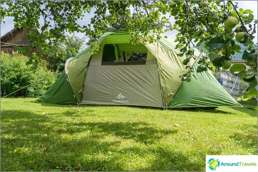 Палатка Family 4.2 XL, от друга страна