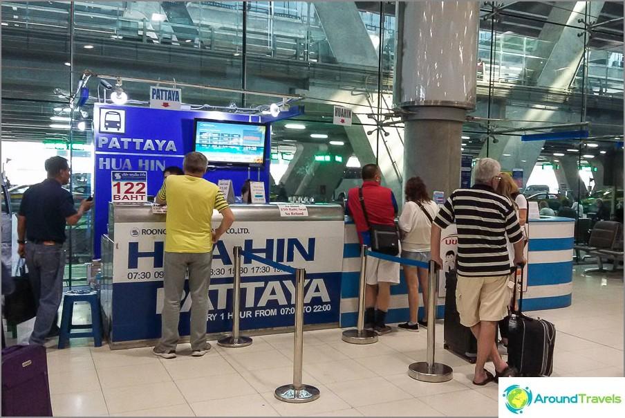 Se myy lippuja Pattayaan ja Hua Hiniin