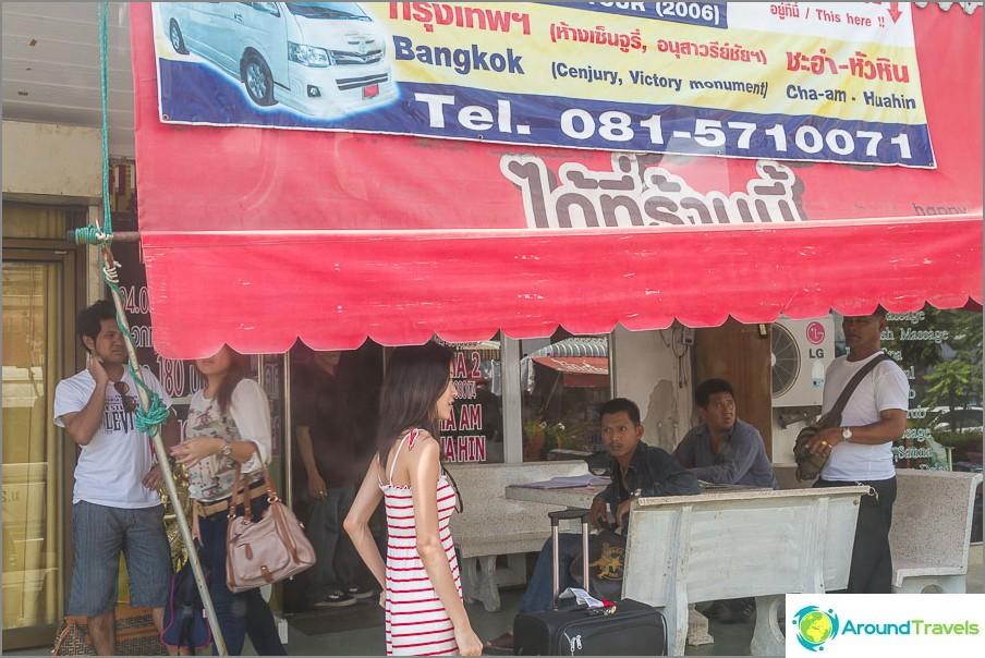 Sieltä voit mennä Bangkokiin ja ostaa sitten lipun