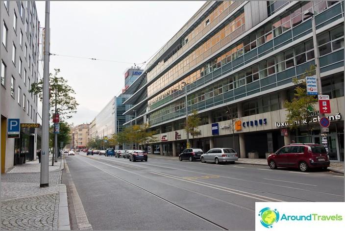 Обикновена улица в Прага