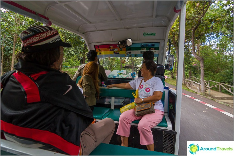 Kuljettaja kertoo jotain erittäin mielenkiintoista thaimaan, mutta katson ympärilleni