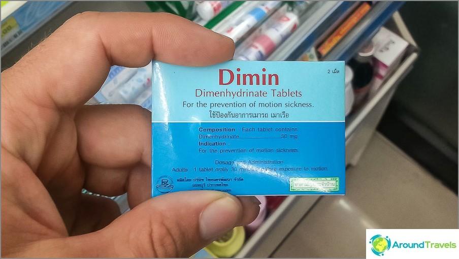 Хапчета за болест при движение в Тайланд