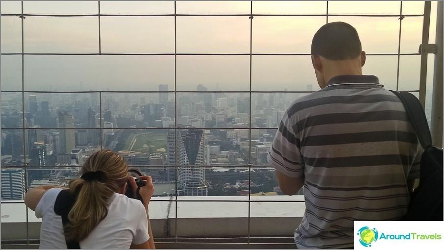 Bangkokin ilta-näkymä