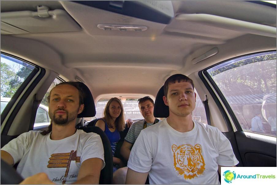 Vuokratimme auton ja ajamme Doi Inthanonin kansallispuistoon