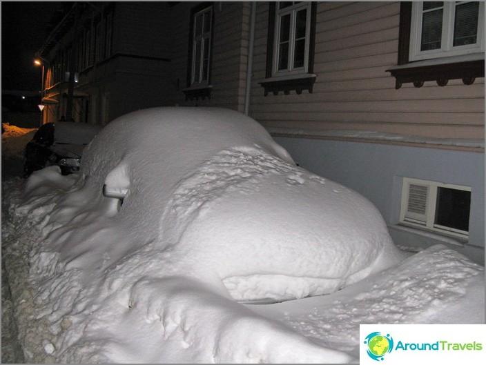 تالين تحت الثلج.
