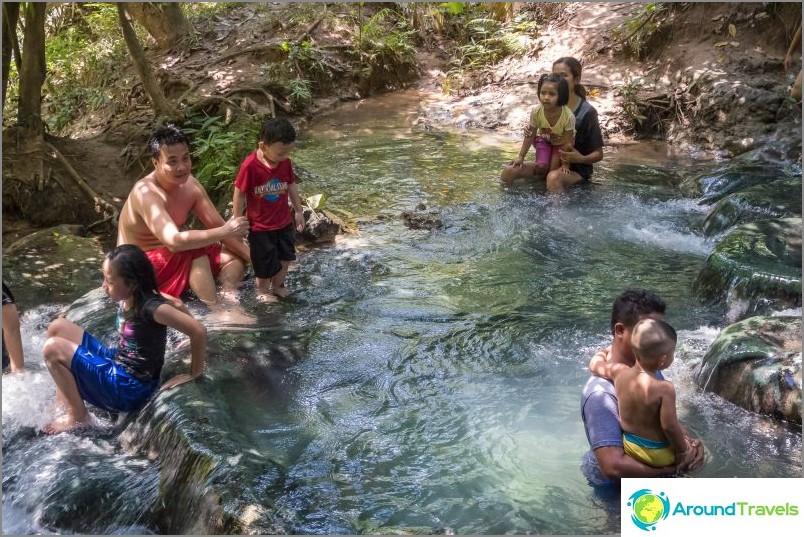 Kuumat lähteet Krabissa tai kuumissa lähteissä - kun haluat antaa lämmön