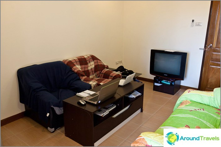 Olohuoneessa ja opiskelu