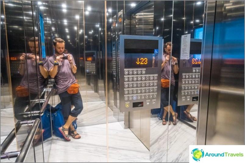 Hissi on erittäin nopea, jopa 26 kerrosta tällä hetkellä