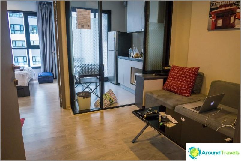 Asunto Pattayassa kaupungin keskustassa 22. kerroksessa