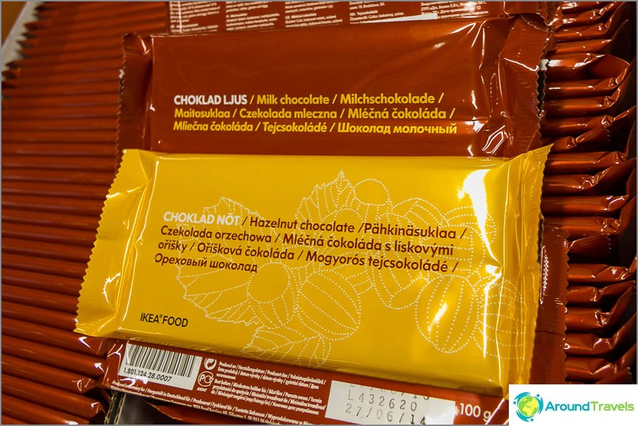 Ikeevsky-suklaat Venäjän allekirjoituksilla