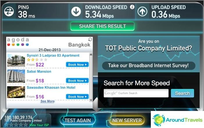 Интернет скорост в апартамента