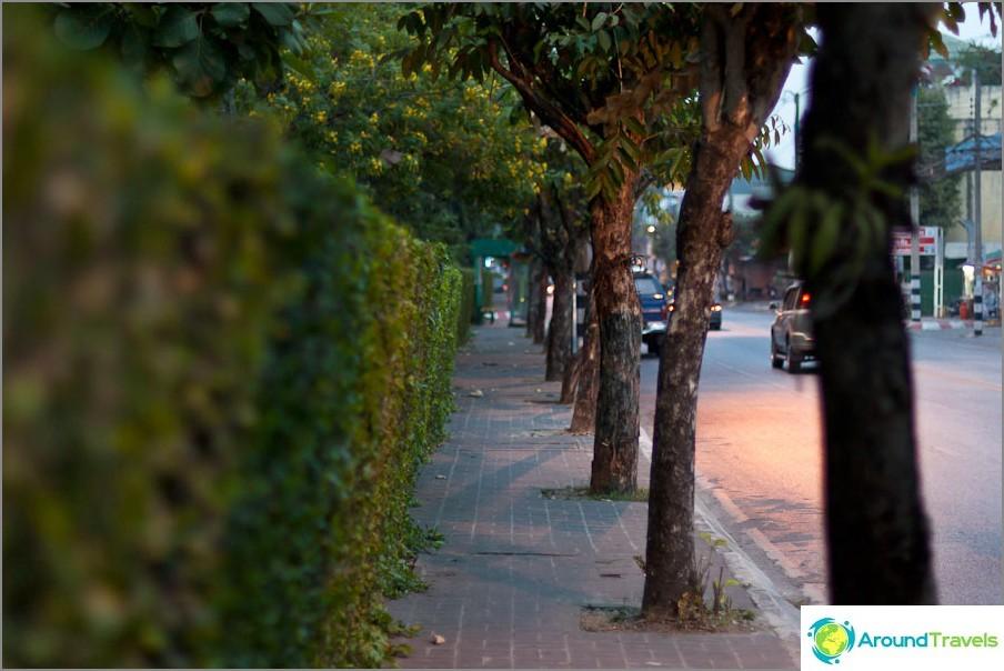 Yksi harvoista jalkakäytävistä Chiang Maissa