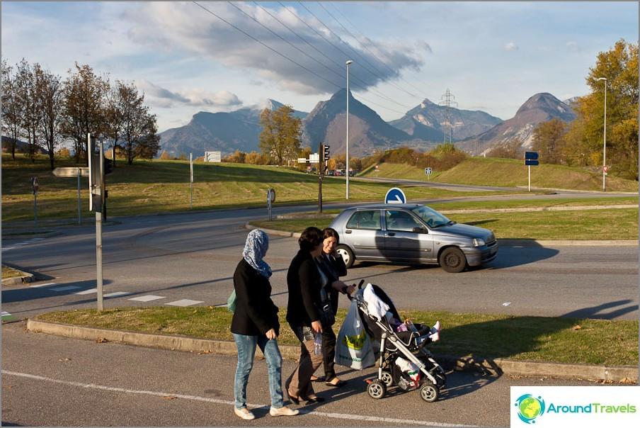 Ranskan vuoret Grenoblessa