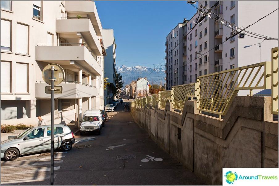 Grenoble-polkupyöräratamerkinnät